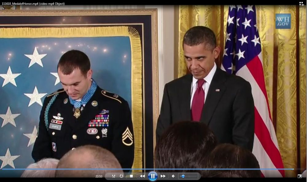 WHY NO PRESIDENTIAL SALUTE BY OBAMA AT MEDAL OF HONOR CEREMONY?