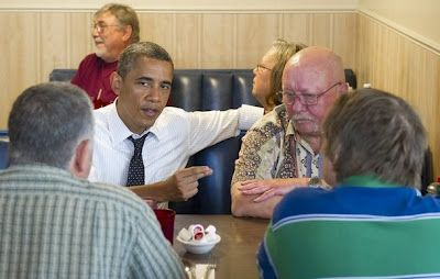 Obama Stages an 'Unscheduled' Visit With 3 Veterans in Portland